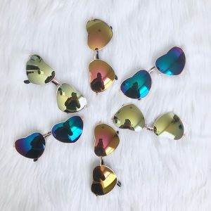 Accessories - Heart Shape Mirror Sunglasses